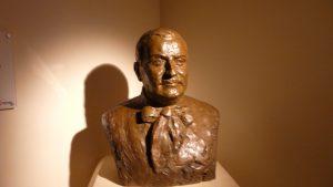 Buste de Georges Labit, conservé au sous-sol du musée.