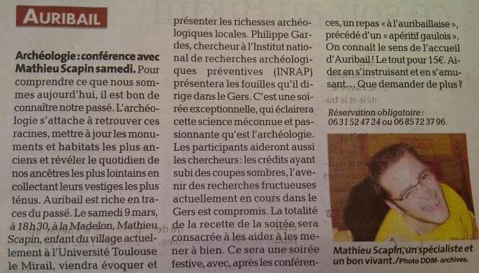 Auribail dépêche 07-03-2013