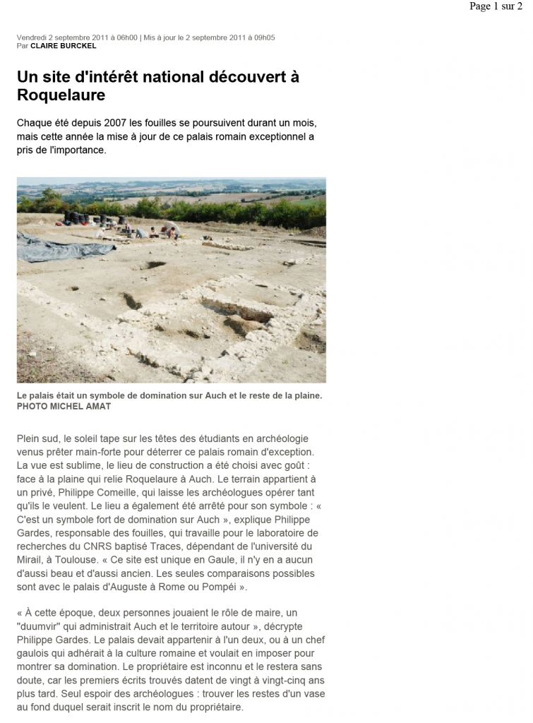 Sud-Ouest 2011 article 2-1