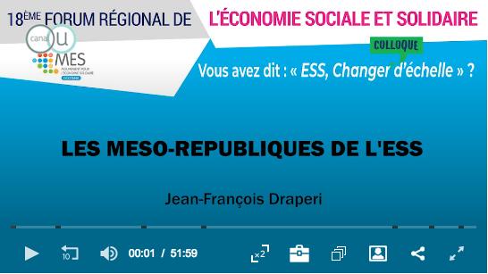 Conférence - Les méso-républiques de l'ESS