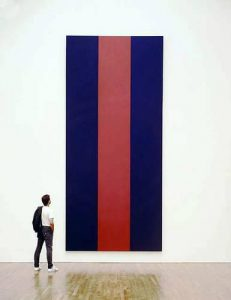 Barnett Newman, Voice of Fire, 1967, 540 x 240 cm, acrylic on canvas, National Gallery of Canada, Ottawa