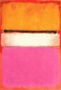 Mark Rothko, White Center (Yellow, Pink and Lanvender on Rose), 1950, 1,42 x 2,06 cm, peinture à l'huile, The Royal family of Qatar