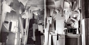 Kurt Schwitters, vue du Merzbau (Construction Merz), vers 1932, matériaux divers, détruit en 1943, Reconstruction du Sprengel Museum, Hanovre.