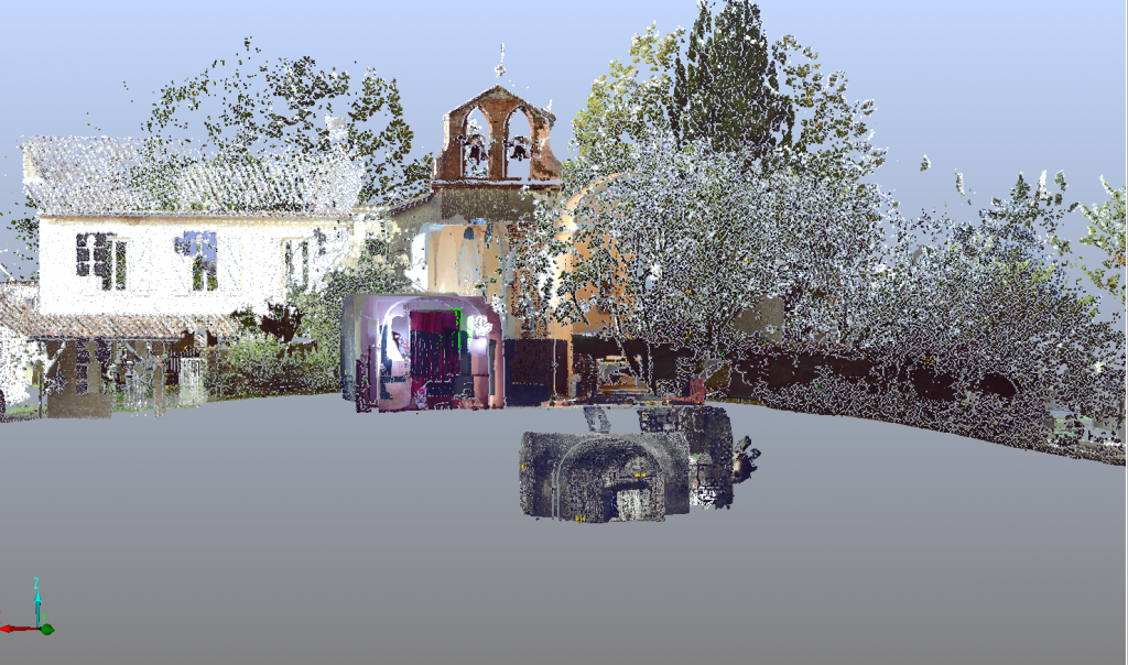 Scan 3D Saint-Aureil - C. Calastrenc/F. Hautefeuille