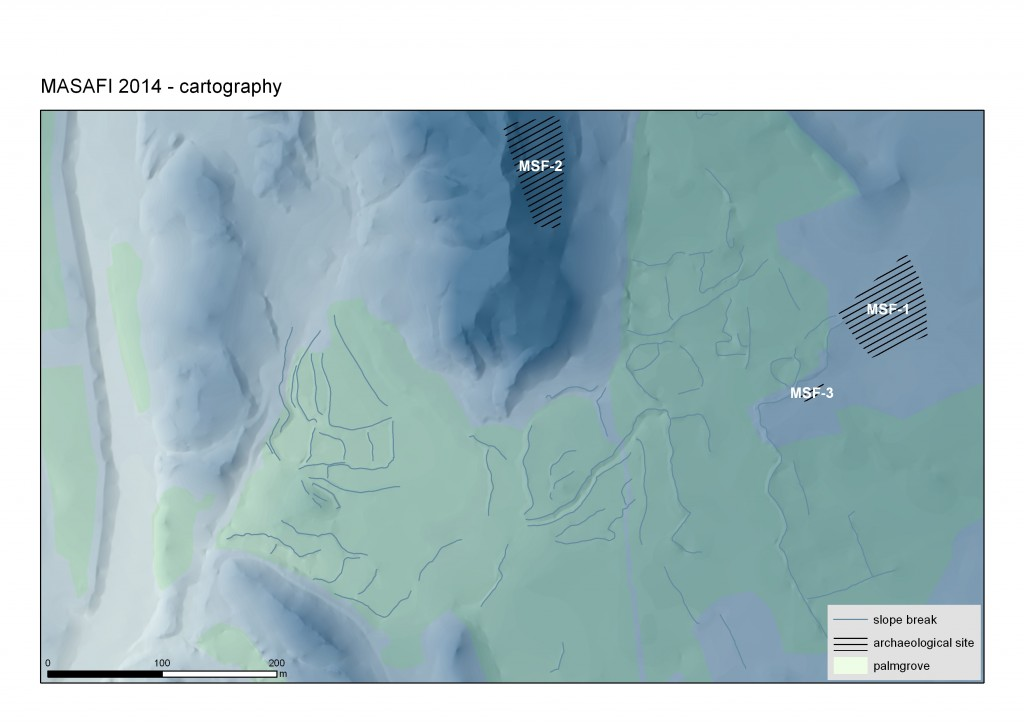 Modélisation de la zone Nord de l'oasis de Masafi  (E. Regargnon, C. Calastrenc, T. Sagory)