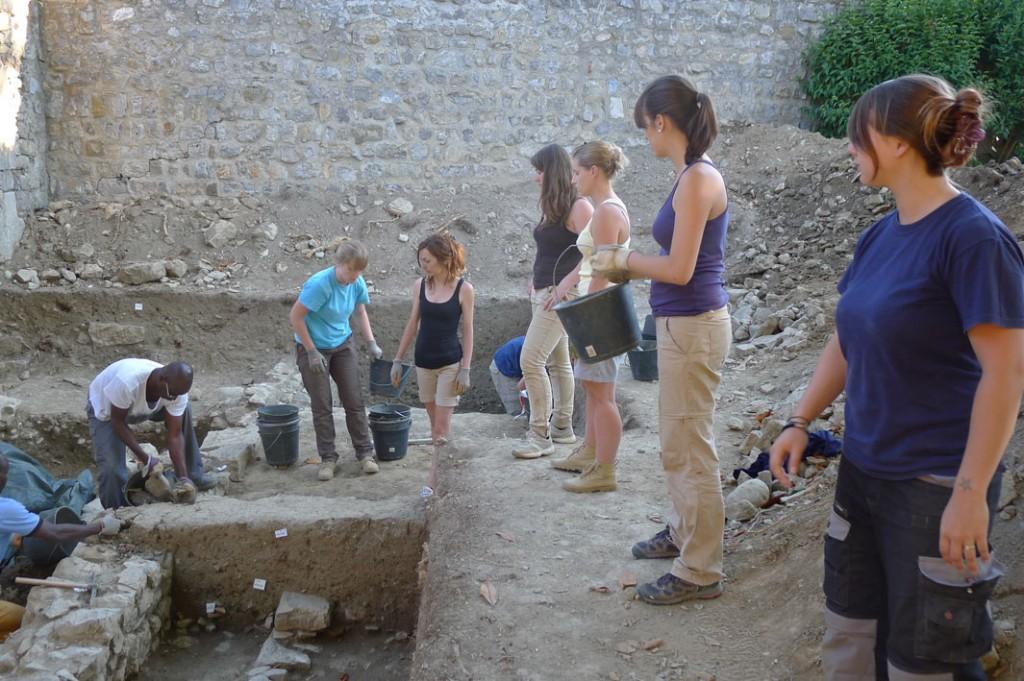 Fouilles archéologique - Lagrasse (Cliché : Bastien Lefebvre)