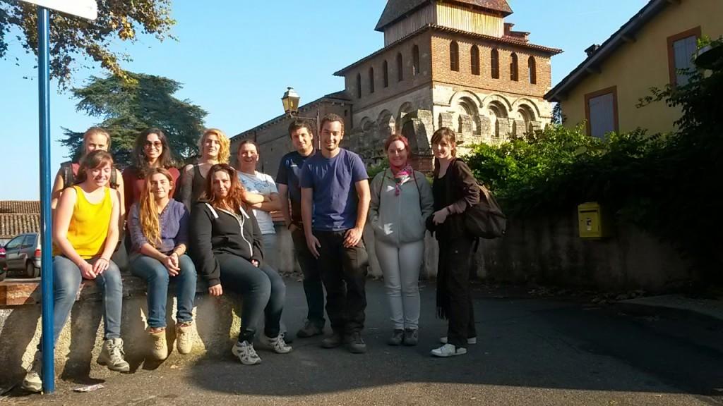 Prospections pédestres - L'équipe en visite à Moissac (Photos : Nicolas Poirier)